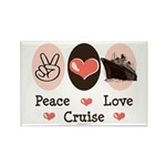 Peace Love Cruise Rectangle Magnet (10 pack)