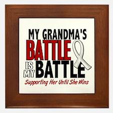 My Battle Too 1 PEARL WHITE (Grandma) Framed Tile