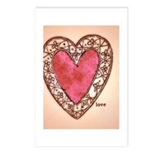 Vintage Heart with Love Postcards (Package of 8)