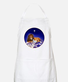 'Peace on Earth', Lion and Lamb BBQ Apron