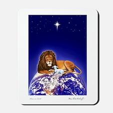 'Peace on Earth', Lion & Lamb ~ Mousepad