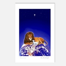 Lion & Lamb 'Peace on Earth' ~ Postcards (8 Pack)