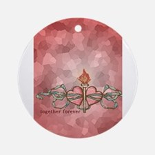 Hearts Together Forever Round Ornament