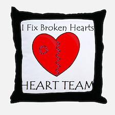 Heart Team Throw Pillow