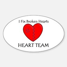 Heart Team Oval Decal