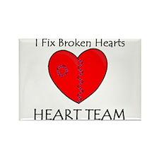 Heart Team Rectangle Magnet (10 pack)