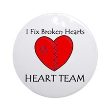 Heart Team Ornament (Round)