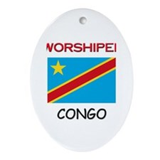 I'm Worshiped In CONGO Oval Ornament