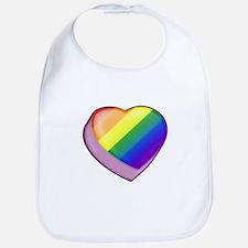 Rainbow Candy Heart Bib