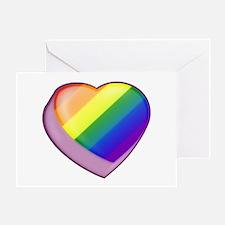 Rainbow Candy Heart Greeting Card