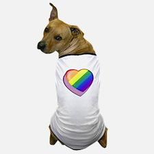 Rainbow Candy Heart Dog T-Shirt