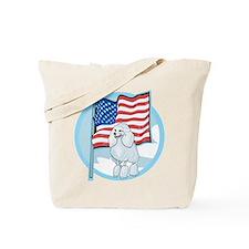 Patriotic Poodle Tote Bag