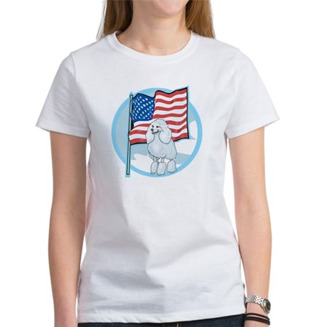 Patriotic Poodle Women's T-Shirt