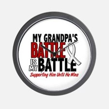 My Battle Too 1 PEARL WHITE (Grandpa) Wall Clock