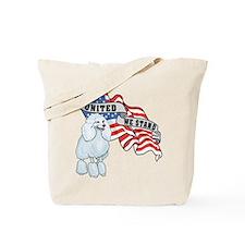 Poodle American Flag Tote Bag