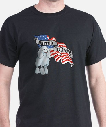 Poodle American Flag T-Shirt