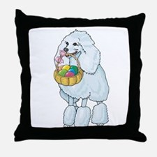 Poodle Easter Throw Pillow