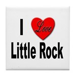 I Love Little Rock Arkansas Tile Coaster