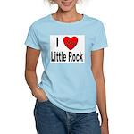 I Love Little Rock (Front) Women's Pink T-Shirt