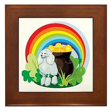Poodle St Patricks Day Framed Tile