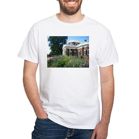 Monticello, Virginia White T-Shirt