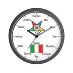 OES Italian Language Wall Clock