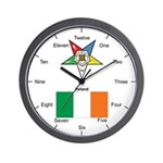 Irish OES Wall Clock