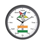 Indian OES Wall Clock