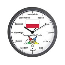 Polish Language OES Wall Clock