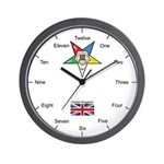 English (UK) OES Wall Clock