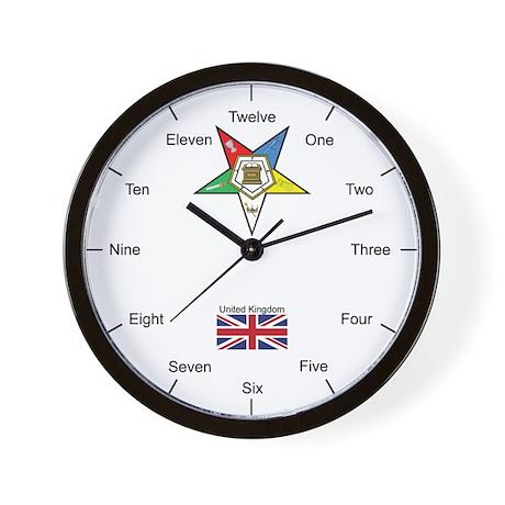 English (UK) OES Wall Clock