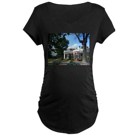 Monticello, Virginia Maternity Dark T-Shirt