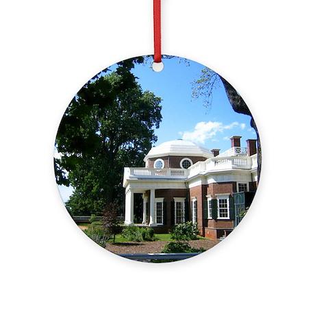 Monticello, Virginia Ornament (Round)