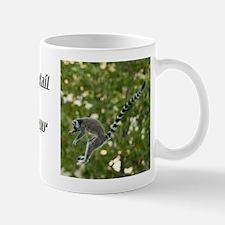 Lemur Jump Small Mugs