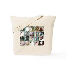 Twenty Pigeon Heads Tote Bag