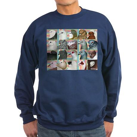 Twenty Pigeon Heads Sweatshirt (dark)