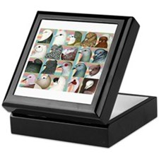 Twenty Pigeon Heads Keepsake Box