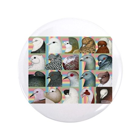 """Twenty Pigeon Heads 3.5"""" Button (100 pack)"""