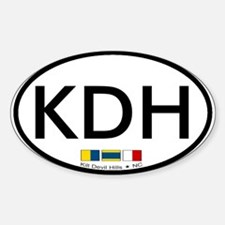 Kill Devil Hills NC Oval Decal