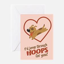 Jump Through Hoops Greeting Card