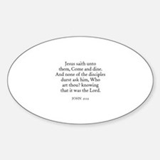 JOHN 21:12 Oval Decal