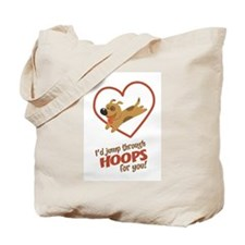 Jump Through Hoops Tote Bag