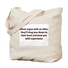 Funny Idiot Tote Bag