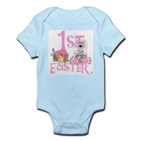 Bunny and Eggs 1st Easter Infant Bodysuit