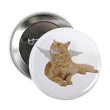 """Orange Angel Cat 2.25"""" Button (10 pack)"""