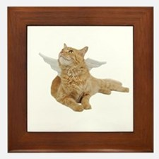 Orange Angel Cat Framed Tile