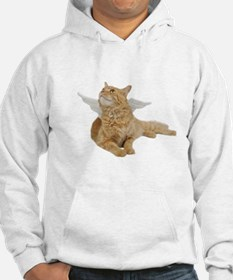 Orange Angel Cat Hoodie