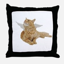 Orange Angel Cat Throw Pillow