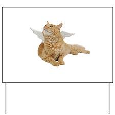 Orange Angel Cat Yard Sign
