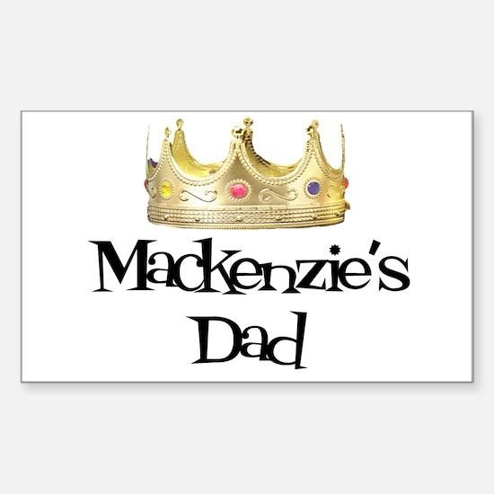 Mackenzie's Dad Rectangle Decal